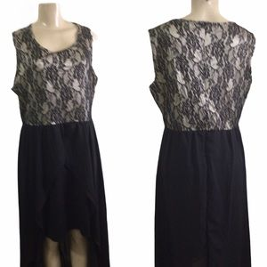 Plus Size Sleeveless  Lace Top Dress (2X)